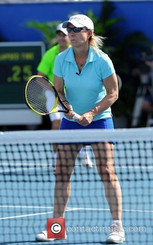 Martina Navratilova  23rd Annual Chris Evert/Raymond James Pro-Celebrity Tennis Classic at Delray Beach Tennis Center Delray Beach, Florida -...