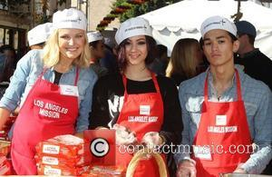 Malin Akerman, Booboo Stewart, Fivel Stewart and Los Angeles Mission