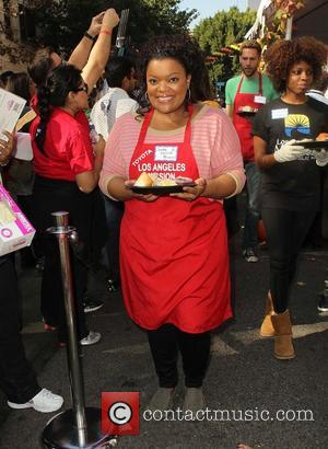 Yvette Nicole Brown,  at the Los Angeles Mission's Thanksgiving for skid row homeless at the Los Angeles Mission. Los...