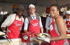 Blair Underwood, Neil Patrick Harris, Tatyana Ali ,  at the Los Angeles Mission's Thanksgiving for skid row homeless at...