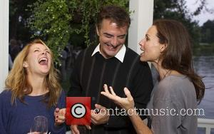 Andrea Anders, Chris Noth and Minnie Driver 'The 24 Hour Plays' after performance dinner at Wolf Family Vineyard Yountville, California...