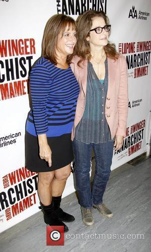 Patti Lupone, Debra Winger during the press conference for theupcoming Broadway play David Mamet's 'The Anarchist', held at the Davenport...