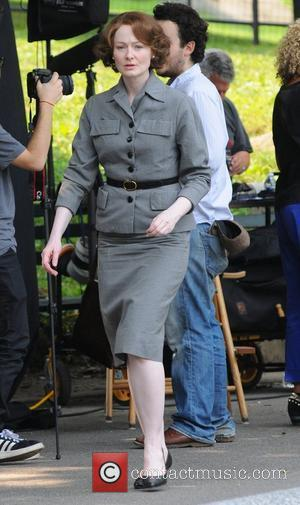 Miranda Otto on the set of 'The Art of Losing' in Central Park New York City, USA - 17.08.12