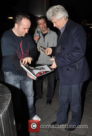 Adam Clayton Members of U2 outside Harry Crosbie's Cafe Bar H  for their holiday party  Featuring: Adam Clayton...