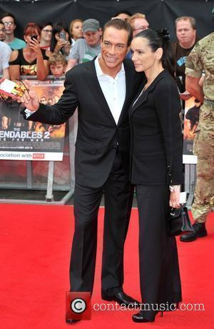 Jan-Claude Van Damme and wife Gladys Portugues 'The Expendables 2' UK Premiere held at the Empire Leicester Square - Arrivals...