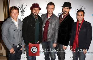 Backstreet Boys (L-R) Brian Littrell, A.J. McLean, Nick Carter, Kevin Richardson, and Howie Dorough 10th Annual Hollywood Christmas Celebration at...