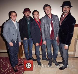 Backstreet Boys (L-R) Brian Littrell, A.J. McLean, Howie Dorough, Nick Carter, and Kevin Richardson 10th Annual Hollywood Christmas Celebration at...