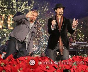 Backstreet Boys, L-R, Brian Littrell and Kevin Richardson