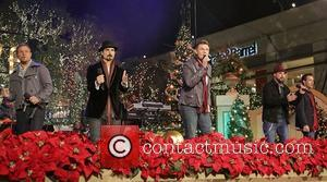 Backstreet Boys (L-R) Brian Littrell, Kevin Richardson, Nick Carter, A.J. McLean, and Howie Dorough 10th Annual Hollywood Christmas Celebration at...