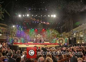 Backstreet Boys (L-R) Brian Littrell, Kevin Richardson, Howie Dorough, A.J. McLean, and Nick Carter  10th Annual Hollywood Christmas Celebration...