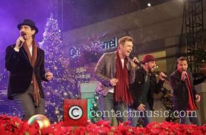 Backstreet Boys (L-R) Kevin Richardson, Nick Carter, A.J. McLean, and Howie Dorough 10th Annual Hollywood Christmas Celebration at The Grove...