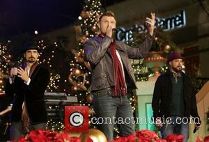 Backstreet Boys (L-R) Kevin Richardson, Nick Carter, and A.J. McLean 10th Annual Hollywood Christmas Celebration at The Grove Los Angeles,...