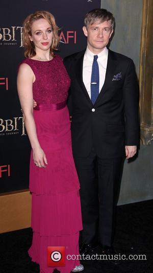 Martin Freeman, Amanda Abbington and Ziegfeld Theater