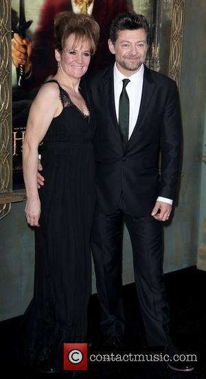 Lorraine Ashbourne, Andy Serkis,  at premiere of 'The Hobbit: Unexpected Journey' at the Ziegfeld Theater. New York City, USA...
