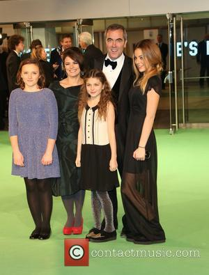 James Nesbitt with his wife Sonia Forbes-Adam and children The Hobbit: An Unexpected Journey - U.K. premiere - Arrivals London,...