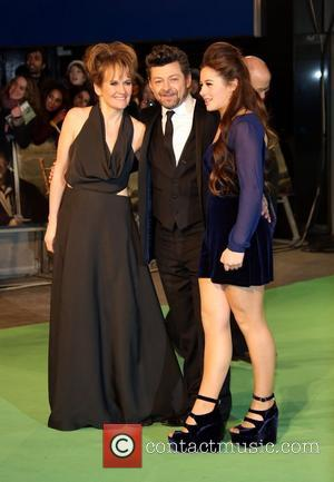 Lorraine Ashbourne, Andy Serkis and daughter The Hobbit: An Unexpected Journey - U.K. premiere - Arrivals London, United Kingdom -...