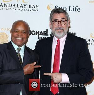 Berry Gordy, John Landis  The opening of Michael Jackson's 'The Immortal World Tour' at the Mandalay Bay Resort and...