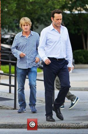Owen Wilson and Vince Vaughn  on the film set of their new movie 'The Internship' in Atlanta Atlanta, USA...