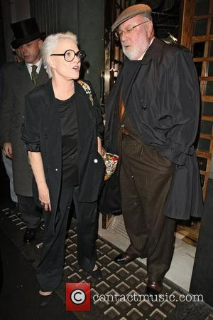 'Cagney and Lacy' star Sharon Gless at the Ivy with husband ,Barney Rosenzweig who was the producer for the show....