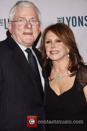 Phil Donahue and Marlo Thomas Broadway opening night of 'The Lyons' at the Cort Theatre – Arrivals New York City,...