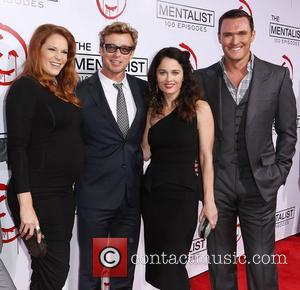 Amanda Righetti, Simon Baker, Robin Tunney, and Owain Yeoman CBS celebrates 100 episodes of 'The Mentalist' held at The Edison...