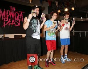 The Midnight Beast perform live and sign copies of their self-titled album at HMV Oxford Circus London, England - 13.08.12