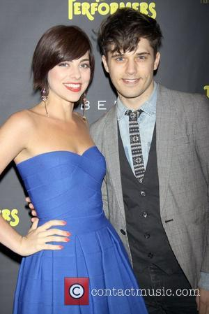 Krysta Rodriguez and Andy Mientus  attends the premiere of 'The Performers' at the Longacre Theatre - Arrivals.  New...