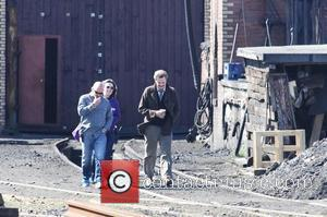 Colin Firth on the film set of 'The Railway Man' Scotland - 03.05.12