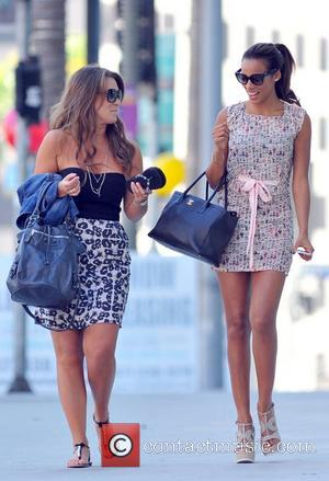Rochelle Humes  seen carrying a Chanel handbag, while out with a friend Los Angeles, California - 02.10.12