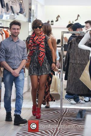 Frankie Sandford  'The Saturdays' shopping on Robertson Boulevard Los Angeles, California - 02.11.12