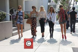 Una Healy, Rochelle Humes, Rochelle Wiseman, Mollie King, Vanessa White and Frankie Sandford