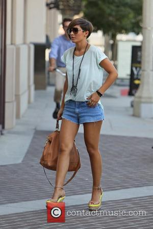 Frankie Sandford The Saturdays hail out for a cab and head towards The Beverly Center for some shopping. Los Angeles,...