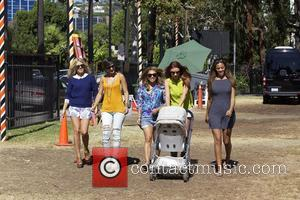 Mollie King, Frankie Sandford, Vanessa White, Una Healy, Aoife Belle and Rochelle Wiseman