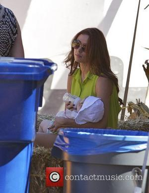 Una Healy and her daughter Aoife Belle The Saturdays visit the Mr. Bones Pumpkin Patch in West Hollywood Los Angeles,...