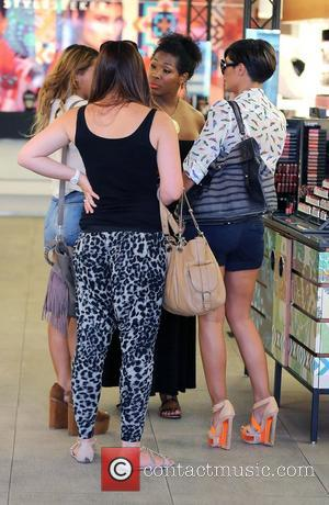 Frankie Sandford,  of The Saturdays shopping at the MAC cosmetic store on Robertson Boulevard Los Angeles, California - 28.08.12