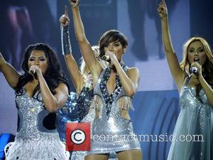 Vanessa White, Frankie Sandford and Una Healy The Saturdays performing the first gig of their arena tour at Bournemouth International...