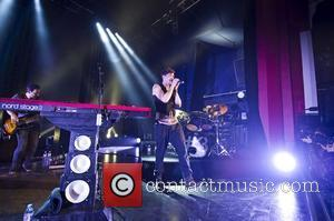 Danny O'Donoghue of The Script performing live at the Shepherds Bush Empire. London, England - 12.09.12