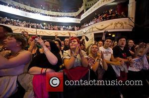 Fans watching The Script perform live at the Shepherds Bush Empire. London, England - 12.09.12