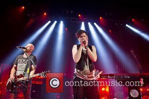 Mark Sheehan and Danny O'Donoghue of The Script performing live at the Shepherds Bush Empire. London, England - 12.09.12