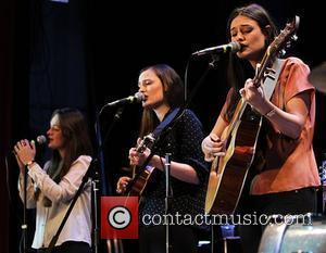 Emily, Camilla and Jessica Staveley-Taylor of The Staves performing on stage at the Islington Assembley Hall. London, England - 16.02.12
