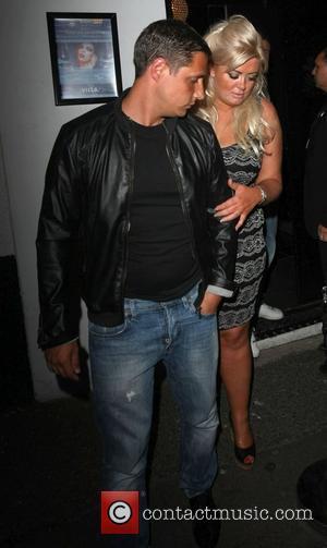 Nightclub owner Adam Brooks and Gemma Collins leave The Villa nightclub in Epping Essex, England - 28.07.12
