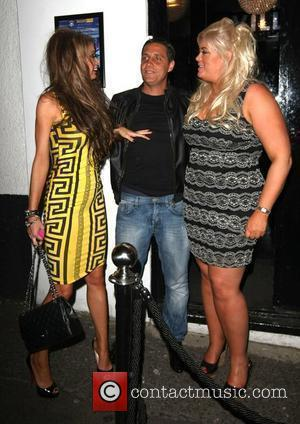 Nightclub owner Adam Brooks, Gemma Collins and a worse for wear looking Chloe Sims leave The Villa nightclub in Epping...