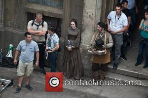Elizabeth Olsen Actors on the set of 'Therese Raquin' filming on location in Budapest Hungary, Budapest - 03.06.12