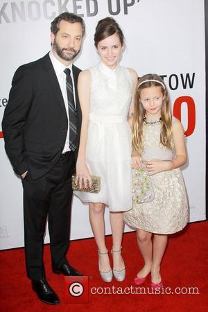 Judd Apatow, Maude Apatow, Iris Apatow and Grauman's Chinese Theatre