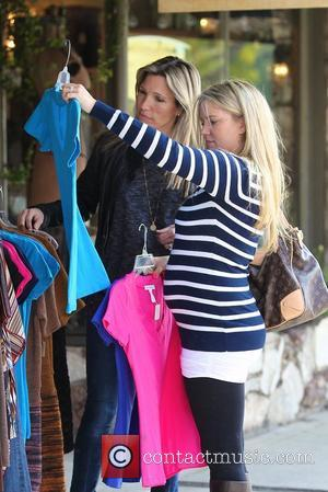 Tiffany Thornton, Wendy Bellissimo Tiffany Thornton out shopping for baby clothes with celebrity Stylist Wendy Bellissimo Los Angeles, California -...