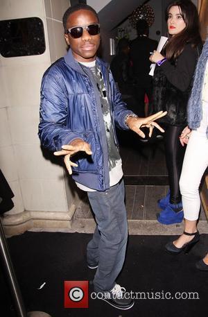 Tinchy Stryder arriving at DSTRKT nightclub in London London, England - 12.04.12