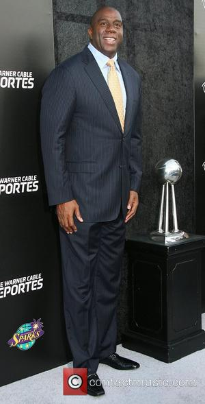 Magic Johnson,  the Time Warner Cable Sports launch of Time Warner Cable SportsNet And Time Warner Cable Networks at...