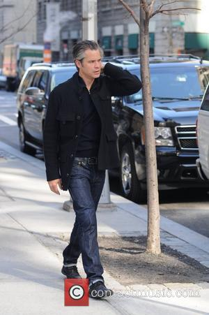 Timothy Olyphant  leaving his hotel in Soho New York City, USA - 27.03.12