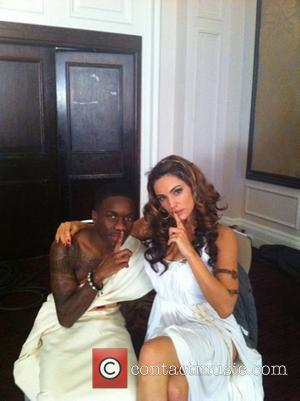 Tinchy Stryder posted this picture on Lockerz with the caption On set with my matey @IAMKELLYBROOK for Kieth Lemon film.......