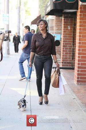 Toccara Jones out and about while walking her dog in Beverly Hills. Los Angeles, USA - 09.02.12